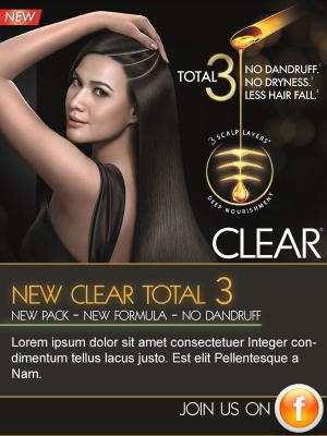 Clear Total 3 Anti-Dandruff Shampoo